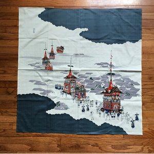Vintage Japanese Pagoda Tapestry